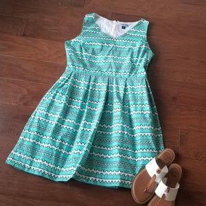 Cynthia Rowley Green Aztec Print Dress